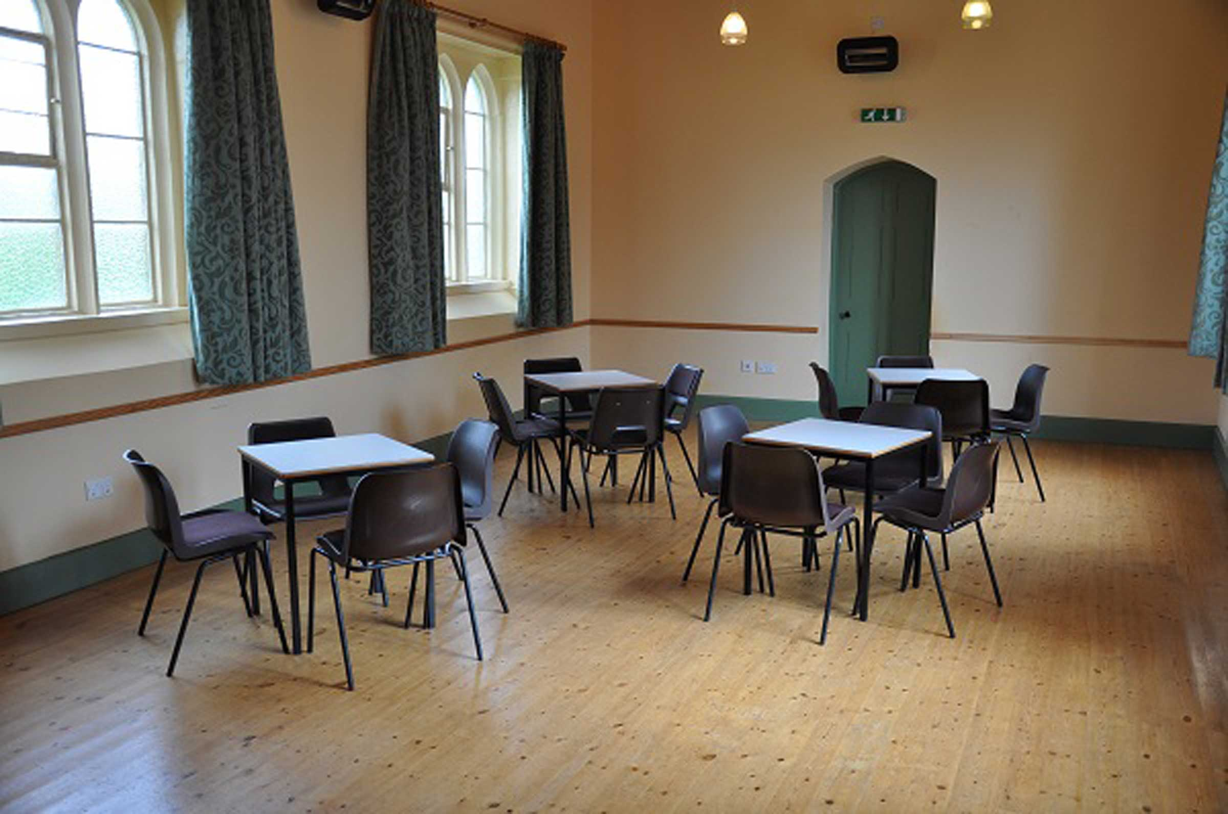 Village Hall Interior Tables